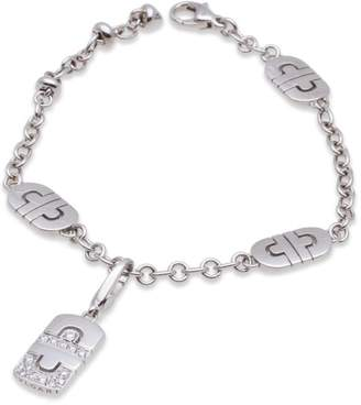 Bulgari Bvlgari 18K White Gold Parentesi Diamond Bracelet