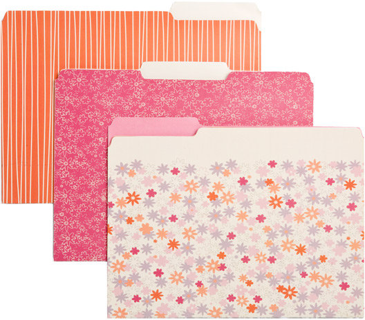Bloom Letter-Size Interior File Folders