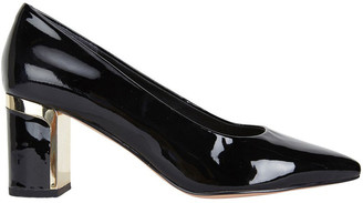 Jane Debster Bonnie Black Patent Heeled Shoe