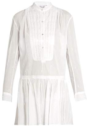 Thierry Colson Lizbeth Embroidered Cotton Dress - Womens - White