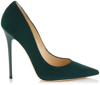 Jimmy Choo ANOUK Forest Suede Pointy Toe Pumps