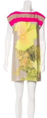 Tibi Silk Photographic Print Dress