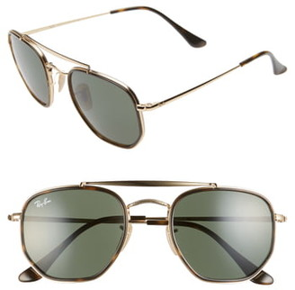 Ray-Ban 52mm Irregular Aviator Sunglasses