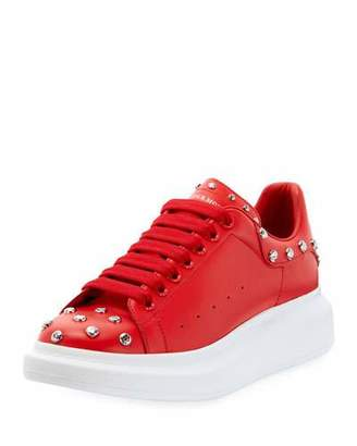 Alexander McQueen Men's Studded Thick-Sole Low-Top Sneakers