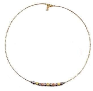 Savvy Cie 18K Gold Vermeil Sterling Silver Tricolor Necklace