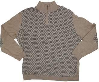 Tasso Elba Mens 1/4 Zip Patterned Sweater Red XL