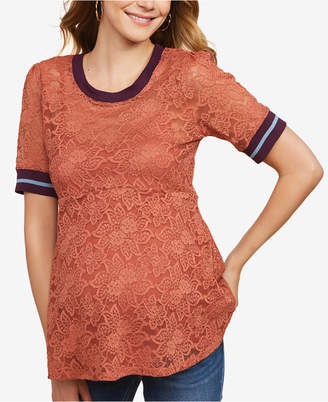 Jessica Simpson Maternity Lace Top