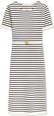Black & White Striped Sweater Dress