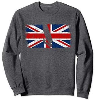 British Flag Windsurfer Sweatshirt Vintage Union Jack Jumper