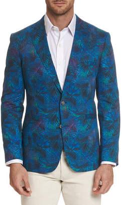 Robert Graham Men's Kalman Floral-Print Two-Button Jacket
