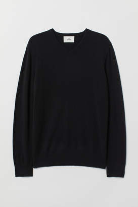 H&M V-neck Cashmere Sweater - Black