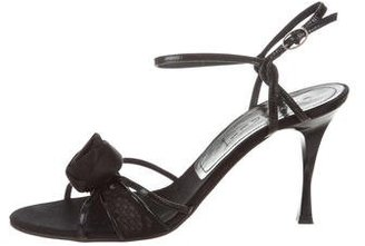 Casadei Patent Leather Ankle Strap Sandals $75 thestylecure.com