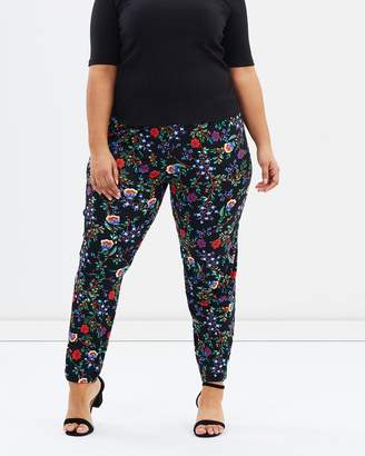 Evans Printed Jersey Trousers