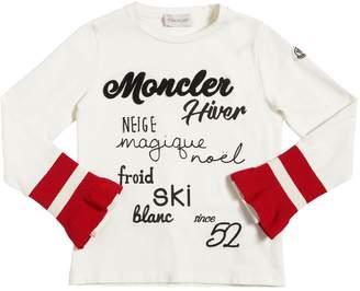 Moncler Printed Cotton Jersey T-Shirt