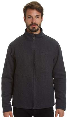Haggar Men's Stretch Wool-Blend Open-Bottom Jacket