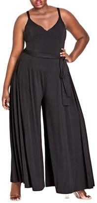City Chic Miss Slinky Jumpsuit