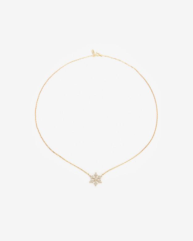Aamaya By Priyanka Snowflake Charm Necklace