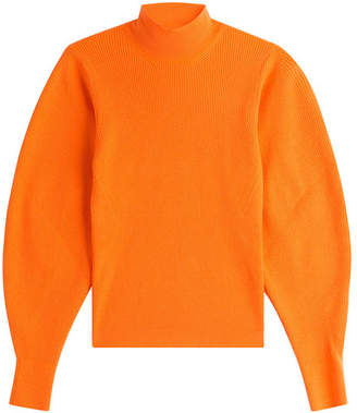 Thierry Mugler Wool Pullover with Voluminous Sleeves