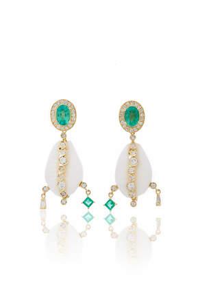 Hirsch Aron & Tumi Emerald Shell Earrings