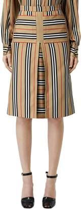 Burberry Check Print Techno Twill Skirt