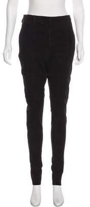 Prada Suede High-Rise Pants
