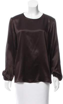 Lanvin Silk Long Sleeve Blouse