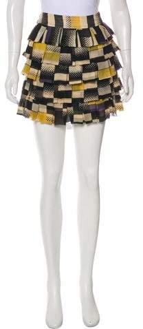 Diane von Furstenberg Twyla Silk Mini Skirt