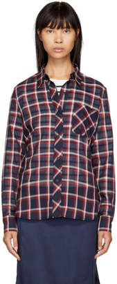 Rag & Bone Navy Robbie Shirt