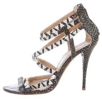 Aquazzura Gio Snakeskin Sandals