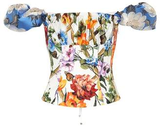 Dolce & Gabbana Floral-printed cotton-blend top