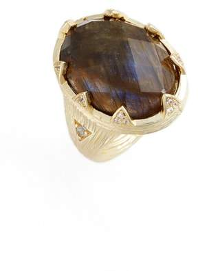 Melinda Maria Maureene Labradorite Statement Ring