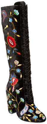 Alice + Olivia Vesey Embroidered Tall Boot