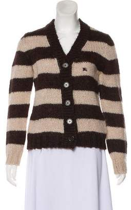Burberry Striped Button-Up Cardigan