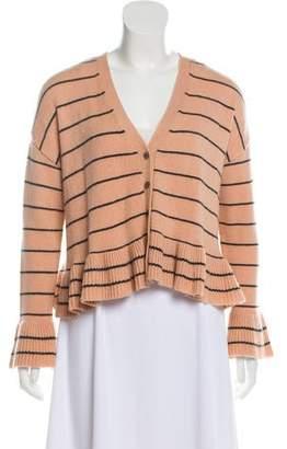 Cinq à Sept Wool Striped Cardigan
