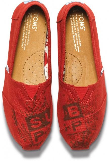 Toms Sub pop red women's classics