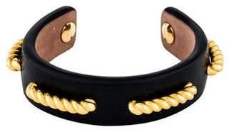Alexander McQueen Braided Leather Cuff