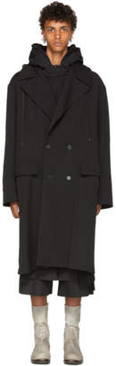 Juun.J Black Hooded Coat