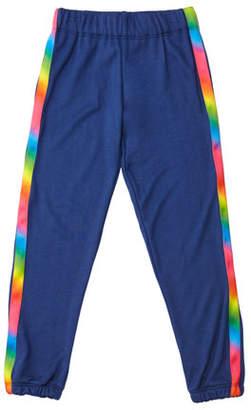 Flowers by Zoe Girl's Sweatpants w/ Rainbow Taping, Size S-XL