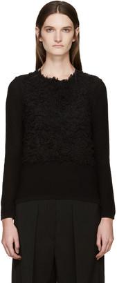 Comme des Garçons Black Textured Sweater $530 thestylecure.com