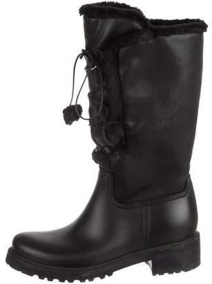 5afa9eedf3b4 Stuart Weitzman Faux Fur-Trimmed Mid-Calf Boots