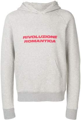 Paura 'Rivolucione Romantica' printed hoodie