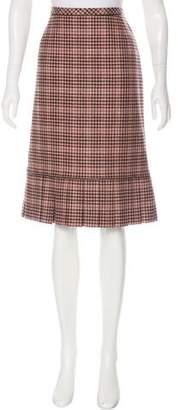 Oscar de la Renta Houndstooth Knee-Length Skirt