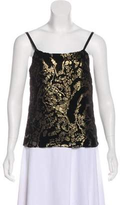 Alice + Olivia Velvet Sleeveless Top