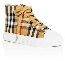 Burberry Unisex Belford Check High-Top Sneakers - Toddler, Little Kid