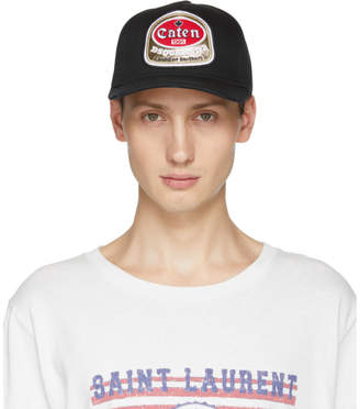 DSQUARED2 Black Caten Baseball Cap