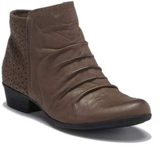Rockport Carly Rouched Leather Ankle Bootie - Wide Width Available