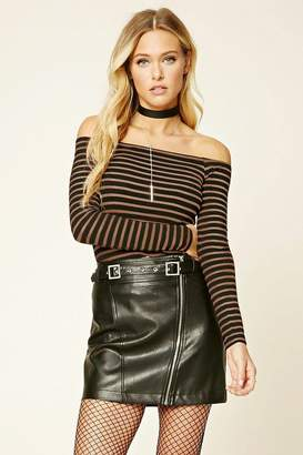 Forever 21 Contemporary Striped Top