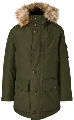 J.Crew Faux Fur-Trimmed Water-Resistant Shell Primaloft Parka - Green