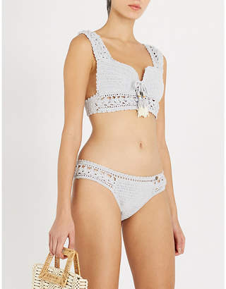She Made Me Jaya crocheted bikini top