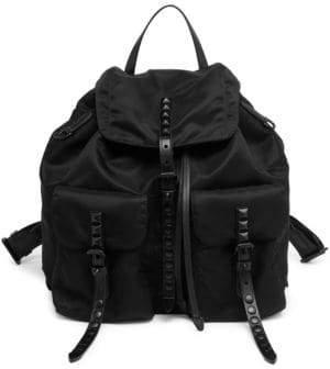 Prada Studded Nylon Backpack